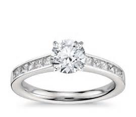 2 ct princess cut engagement rings princess cut channel set engagement ring in platinum 1 2 ct tw blue nile