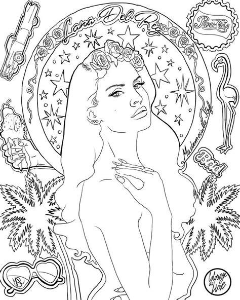 Coloriage : Lana Del Rey - Ultraviolence I | Color