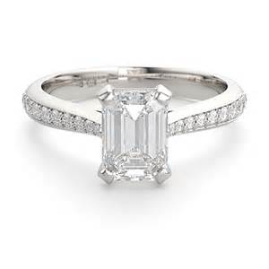 flat engagement rings two emerald cut engagement ring designs steven