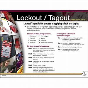Lockout  Tagout Instructional Chart