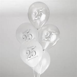 25th wedding anniversary balloons white silver With 25th wedding anniversary balloons decorations