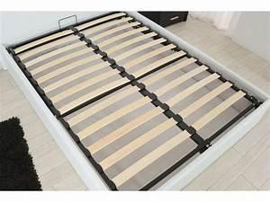 Verin Lit Coffre : lit coffre 140x190 cm skon coloris blanc vente de lit adulte conforama ~ Teatrodelosmanantiales.com Idées de Décoration