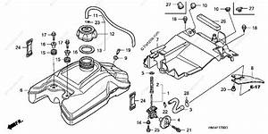 Honda Atv 2002 Oem Parts Diagram For Fuel Tank