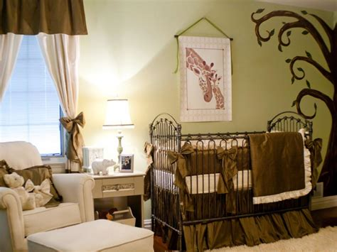 decoration chambre bebe theme jungle dreamy nurseries hgtv