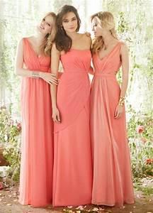 Kleid Koralle Hochzeit : drei modelle brautjungfer kleider pfirsichtfarbe korsage kleider brautjungfern kleider ~ Orissabook.com Haus und Dekorationen