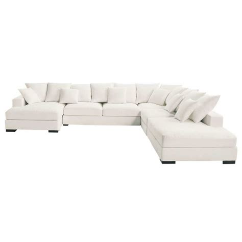 7 seat sectional sofa 7 seater cotton modular corner sofa in ivory loft