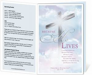 14 best images about printable church bulletins on With free templates for church bulletins