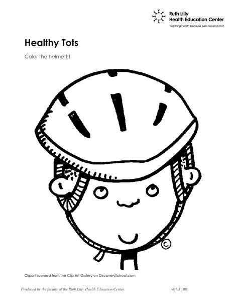Helmet Coloring Pages Bike Page Grig3org
