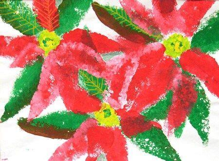 sponge painted poinsettias grade  christmas art