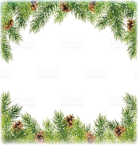 green christmas tree pine branches with pinecones like