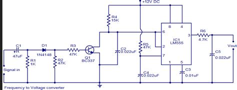 frequency  voltage converter crcuit   ic timer