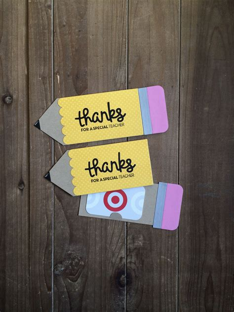 teacher gift card holder teacher appreciationback