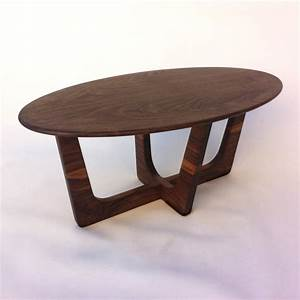 mid century modern oval coffee table 20x40 adrian pearsall With oblong coffee table