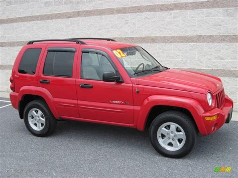 dark green jeep patriot 2002 flame red jeep liberty limited 4x4 15581972