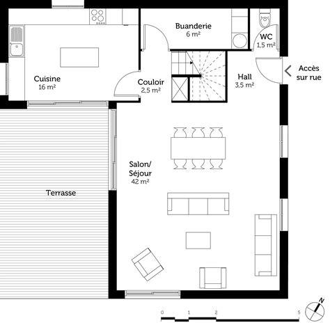 plan de dressing chambre plan maison 3 chambres et dressing ooreka