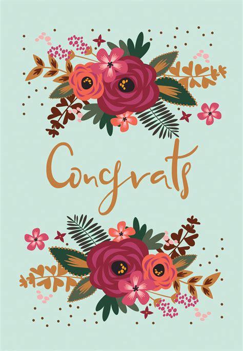 floral congrats tarjeta de felicitacion gratis