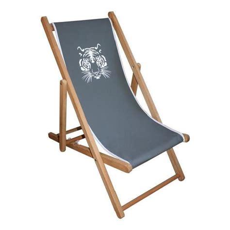 chaise longue en bois et toile transat bois pas cher maison design wiblia com
