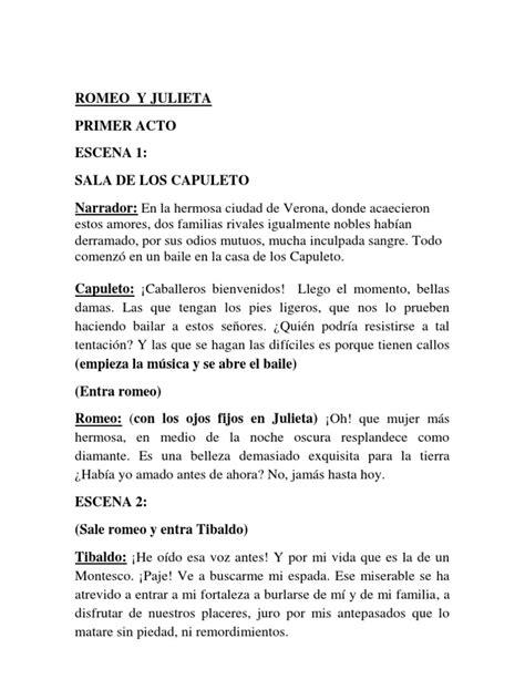 romeo y julieta libreto reducido
