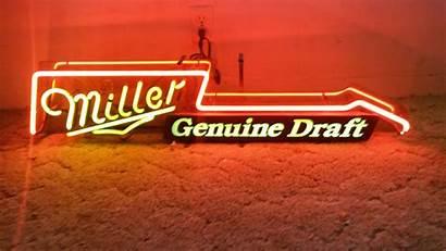 Miller Neon Guitar Signs Budweiser Draft Sign