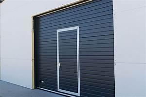 Porte Garage Coulissante Motorisée : porte de garage coulissante acier france fen tres porte ~ Dailycaller-alerts.com Idées de Décoration