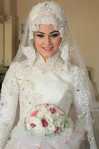 pin by hinda chergui on bridal hijab pinterest With muslim wedding dress with hijab