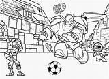 Coloring Pages Hero Printable Baymax Drawing Disney Easy Boy Soccer Playing Football Hiro Robot Cartoon Boys Superhero Ecoloringpage Printables Popular sketch template