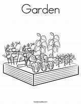 Coloring Garden Flowers Built California Usa Twistynoodle Noodle sketch template
