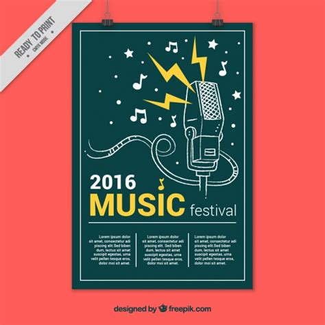 tut poster template creative music festival poster vector free download