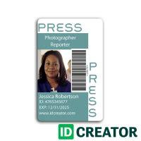 pin  idcreator  press pass  images id card