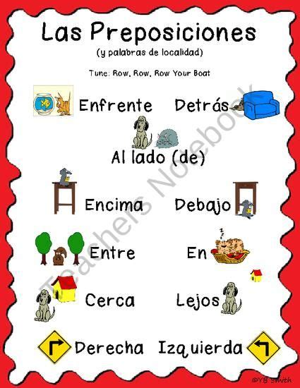Row Row Row Your Boat Lyrics In Spanish by Spanish Prepositions Song From Spanish The Easy Way On