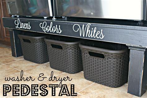 washer and dryer pedestal diy washer dryer pedestal