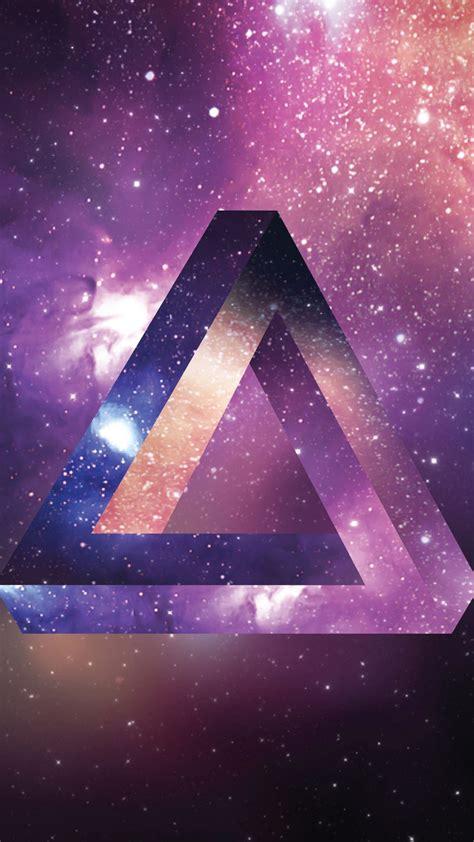 space triangle  uhd wallpaper