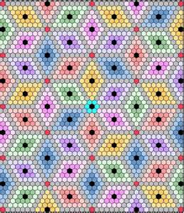 Hexagon Diamond Quilt Pattern