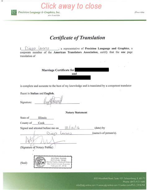 marriage  divorce certificate translation services