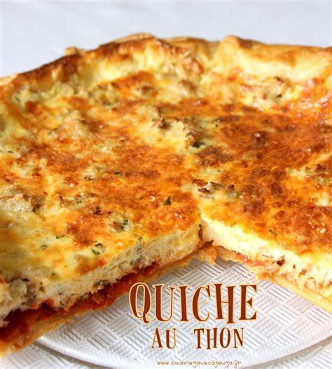 cuisine thon cuisine marocaine quiche au thon