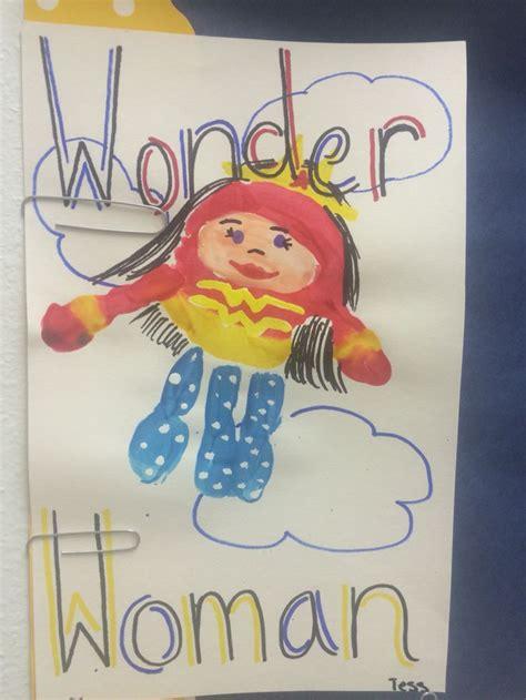 Wonder Woman Handprint Handprint Art Diy Ts Crafts