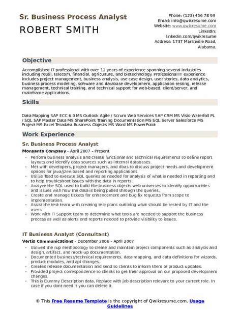 sap master data analyst resume resume ideas