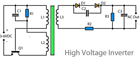 High Voltage Inverter Circuit Diagram Power Amplifier