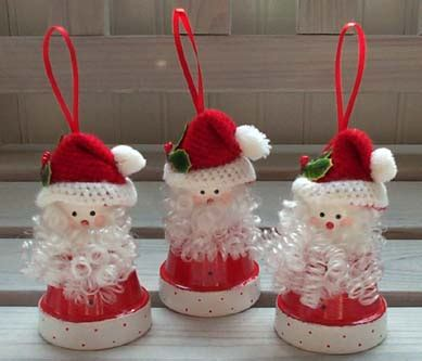 santa crafts for adults patricia s pots flower pot craft ideas