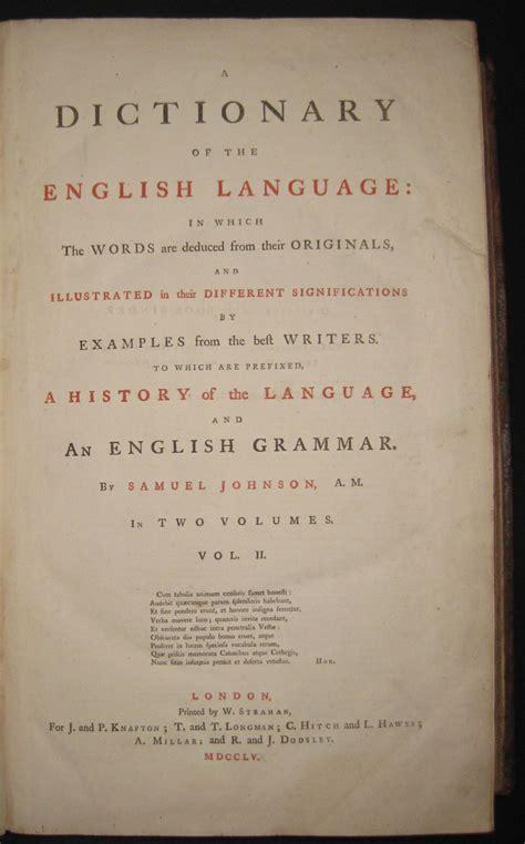 a dictionary of the language samuel johnson