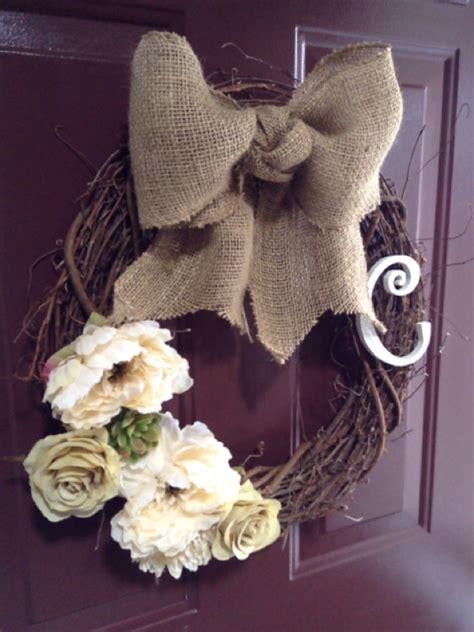 diy monogram wreath diary   diy momma