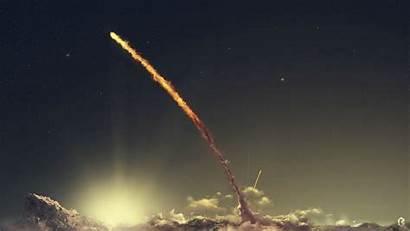 Rocket Launch Space Wallpapers Desktop Night Comet