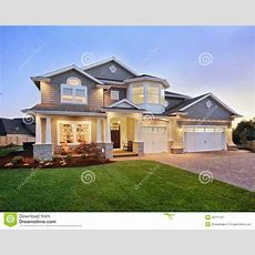 Beautiful New Home Exterior Stock Image  Image Of Luxury