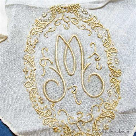 vintage monogrammed handkerchiefs monogram m by stitching sanity vintage monogrammed handkerchief in the