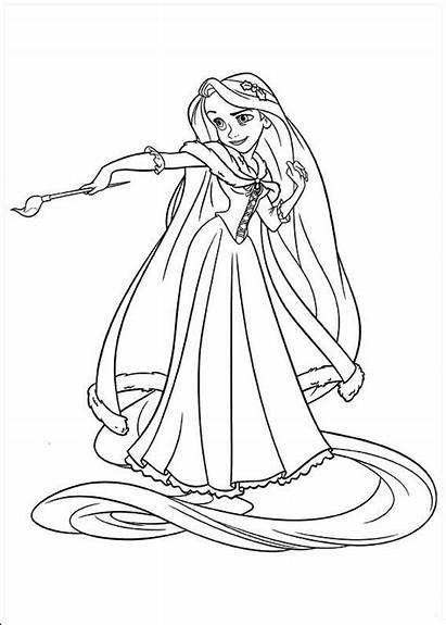 Princess Disney Rapunzel Coloring Pages Tangled Oleh