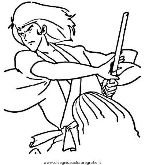 brawl tutti i personaggi disegni disegno lupin 09 personaggio cartone animato da colorare