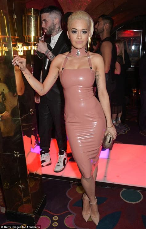 Rita Ora Wears Nearidentical Pink Latex Dress To Kim