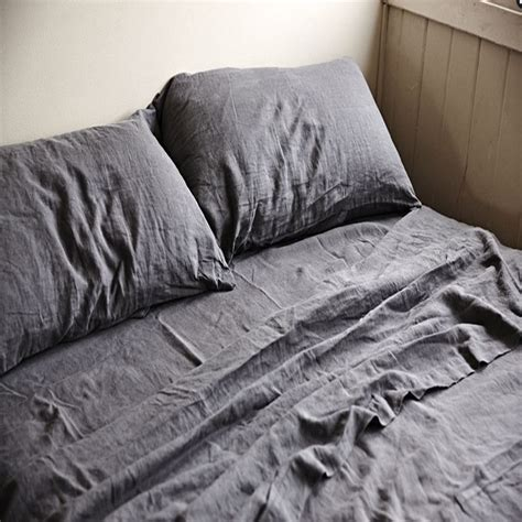 real stonewashed washed linen sheets bed flat sheets bed sheet flax linen