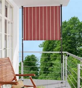 Klemmmarkisen Für Balkon : angerer freizeitm bel balkonsichtschutz polyacryl weinrot wei in 2 breiten online kaufen otto ~ Eleganceandgraceweddings.com Haus und Dekorationen