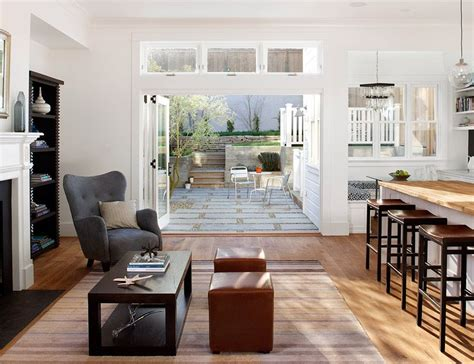 Light Filled Contemporary Living Rooms by Light Filled Contemporary Kitchen Dining Living Space